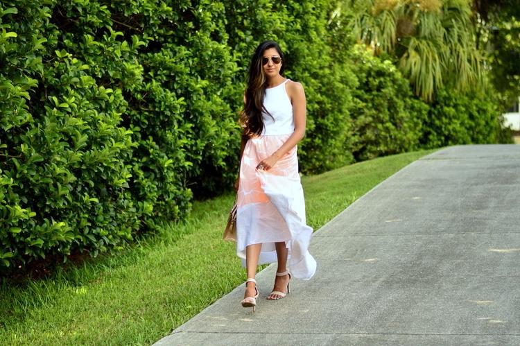 55bc3e17a9b6 Peach High-Low Dress: Orlando, Florida — Miss Minus Sized