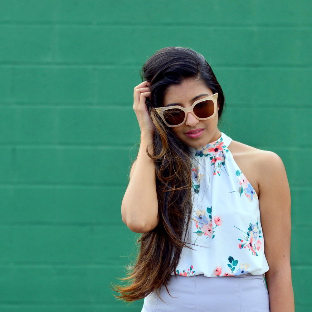 floral-bodysuit-cateye-sunglasses-summer-style-blogger-outfit 2