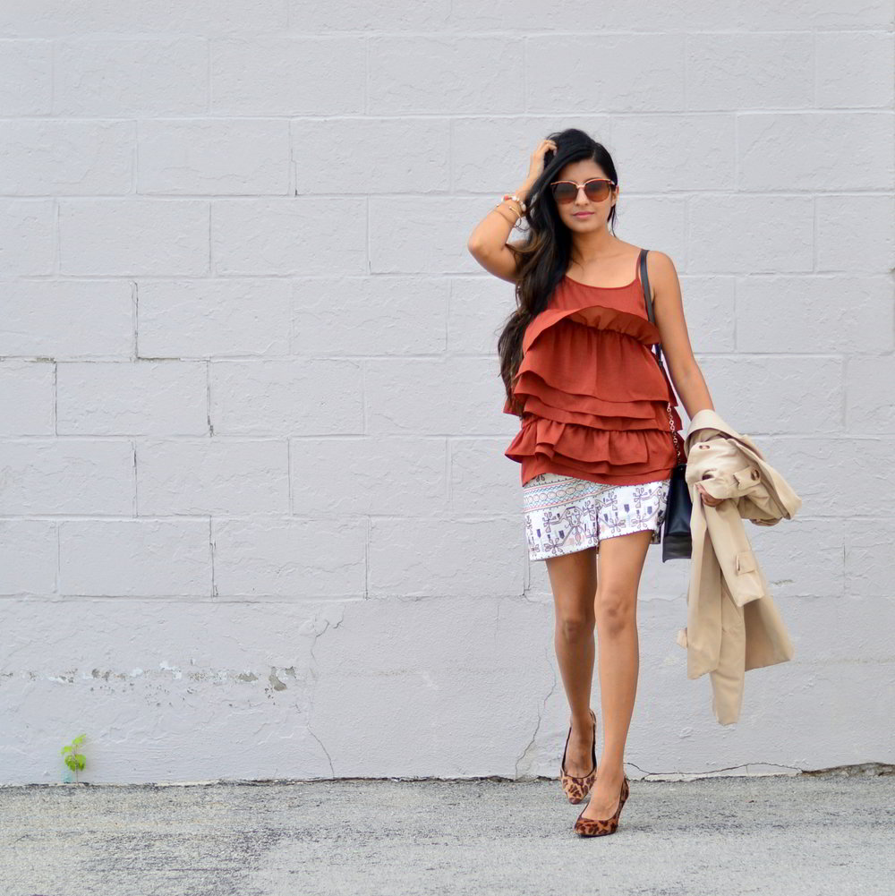 ruffles-embroidered-shorts-summer-style-fall-trends-blogger-outfit 1