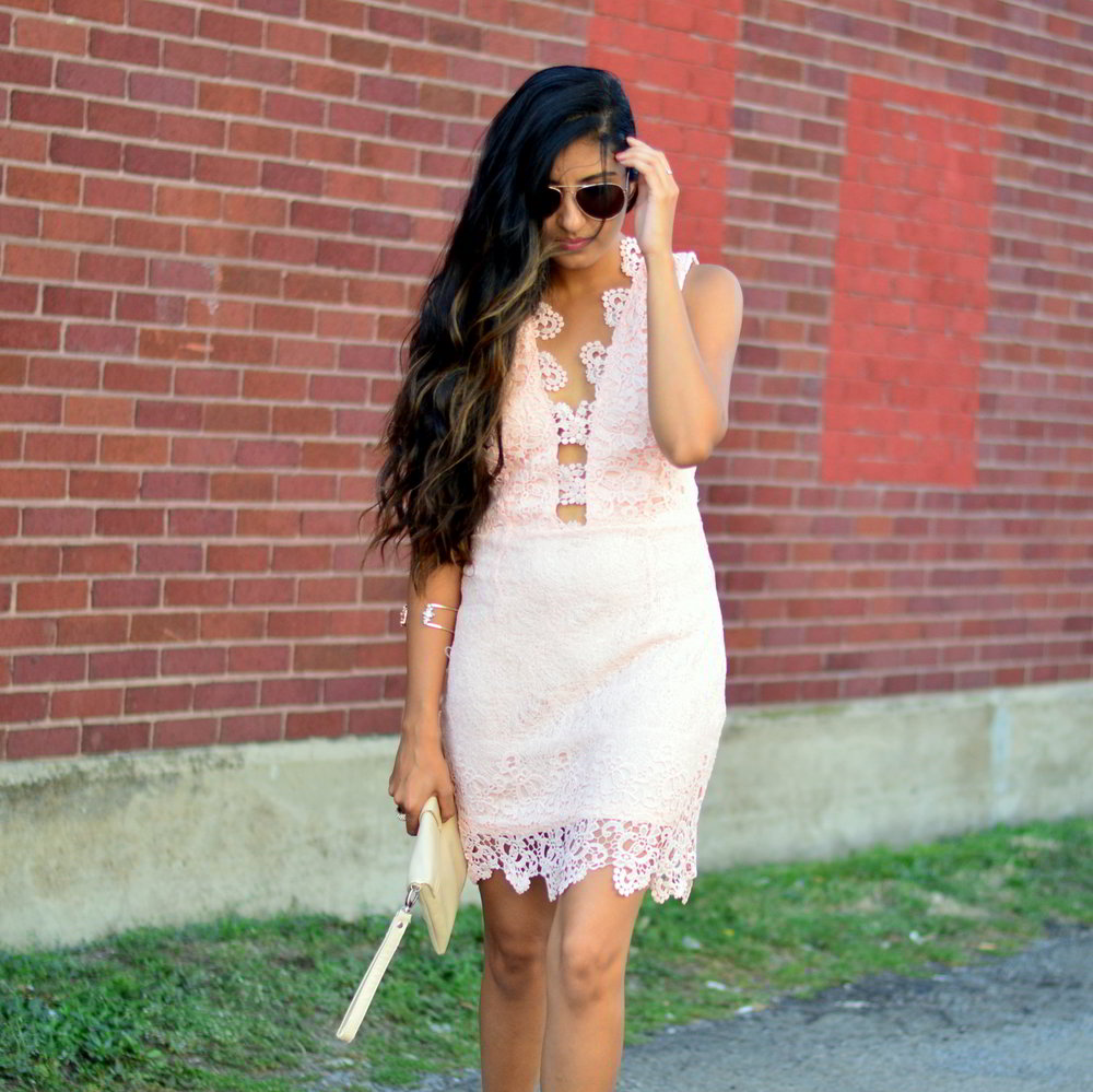 blush-pink-lace-dress-cut-outs-summer-style-blogger-outfit 1