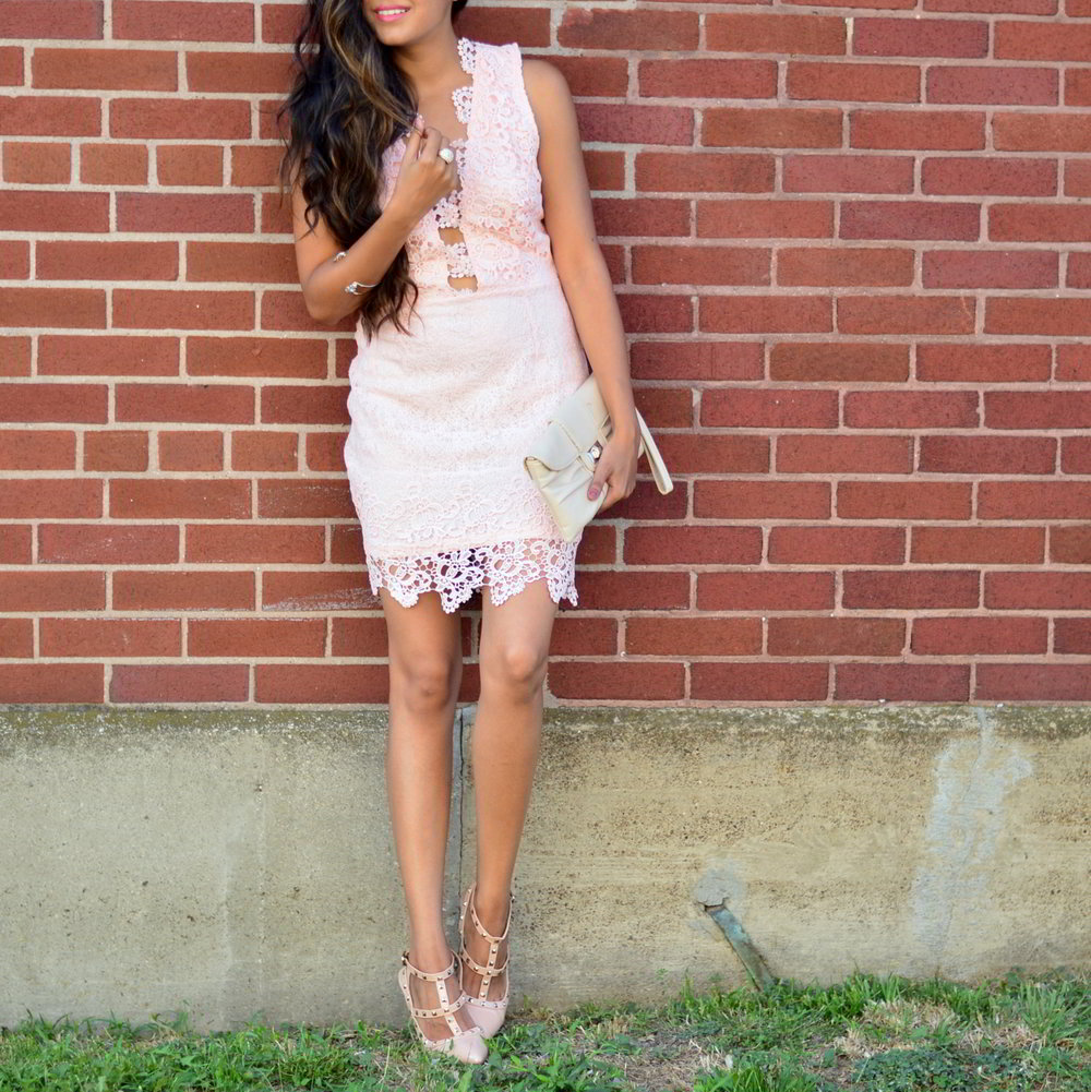 blush-pink-lace-dress-cut-outs-summer-style-blogger-outfit 2