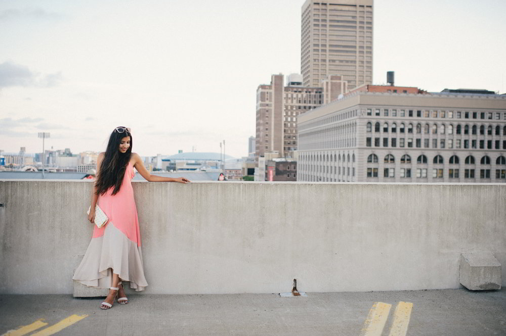 colorblock-maxi-dress-pink-sunset-buffalo-blogger-outfit 8