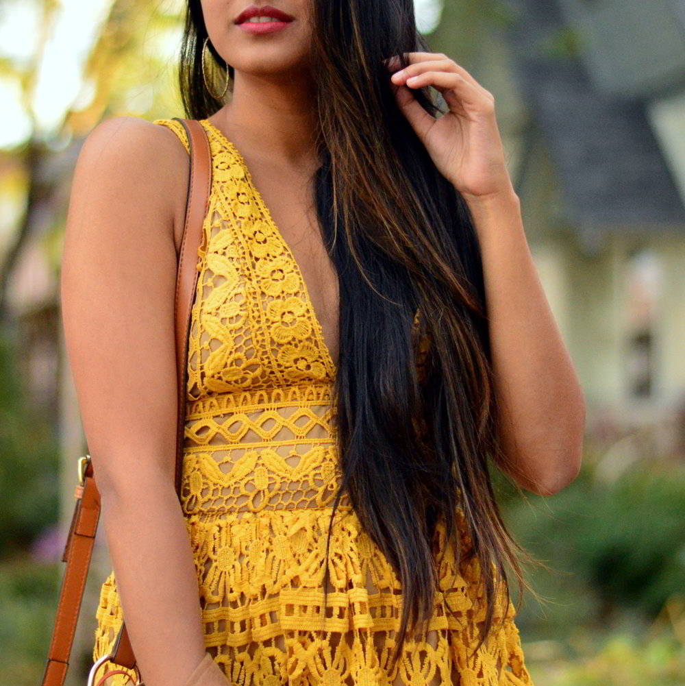 mustard-lace-midi-dress-suede-jacket-fall-style-blogger-outfit 4