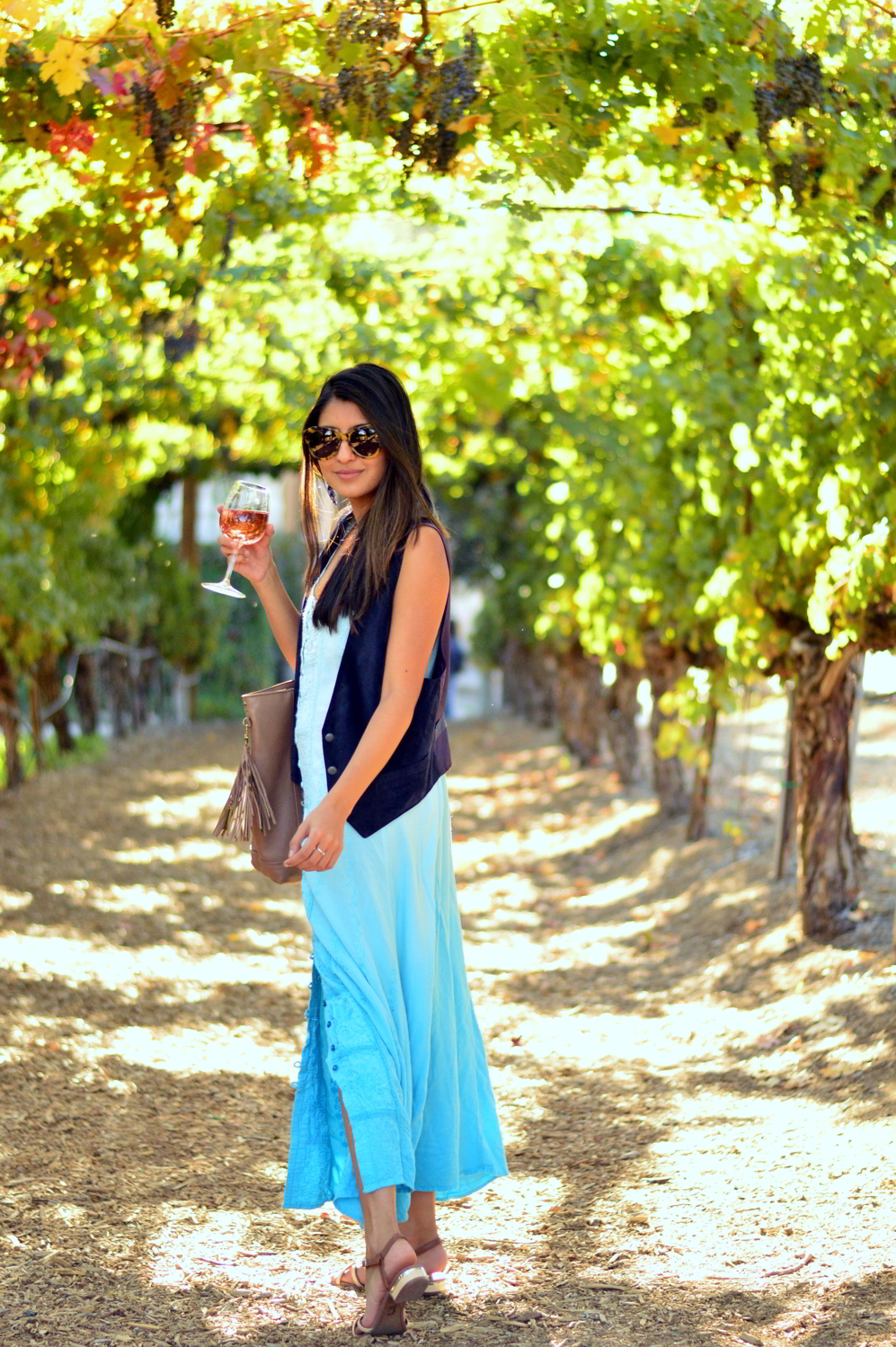embroidered-maxi-dress-suede-vest-fall-california-blogger-style-outfit 7