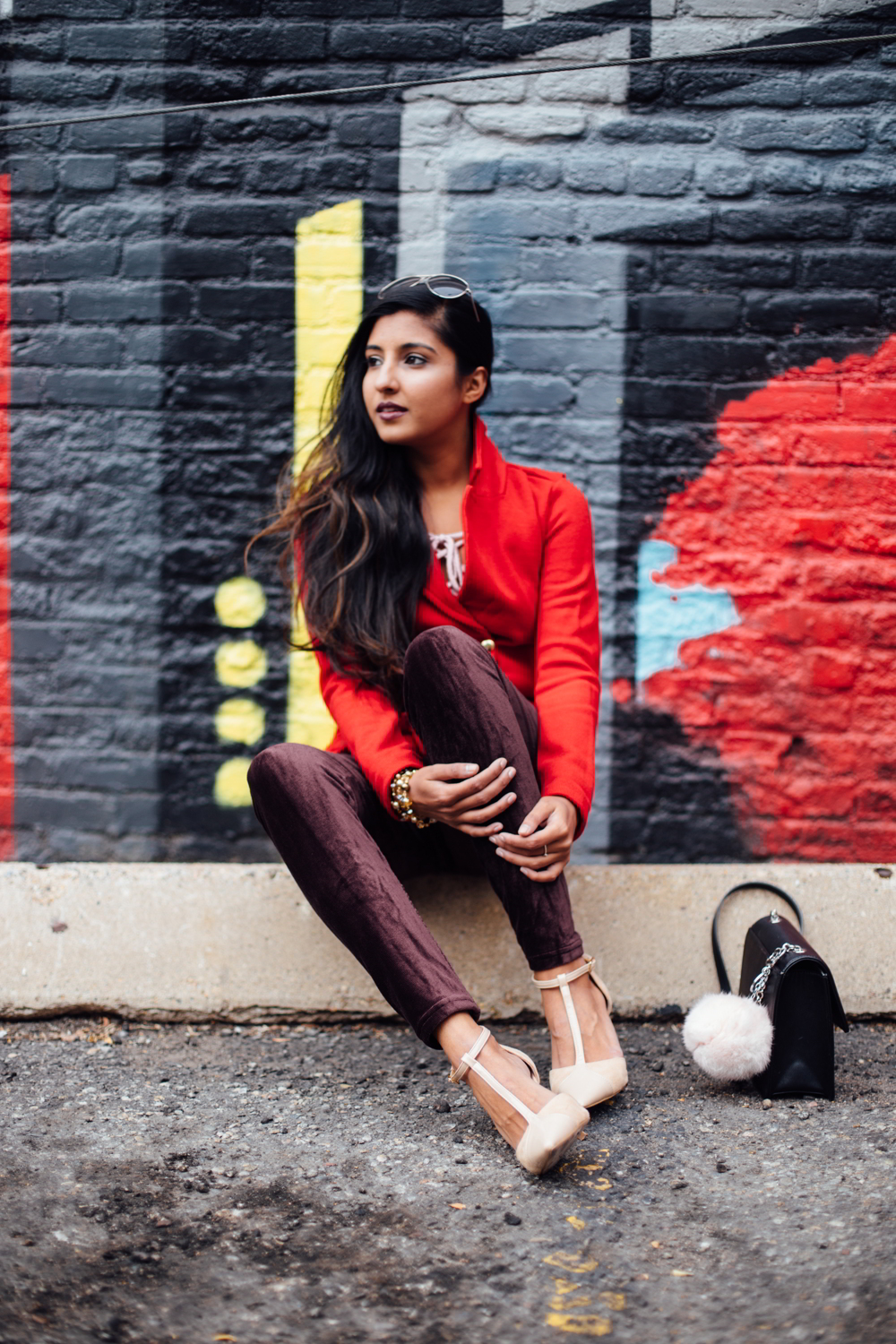 velvet-burgundy-pants-red-holiday-season-style-blogger-outfit-denver-colorado 2