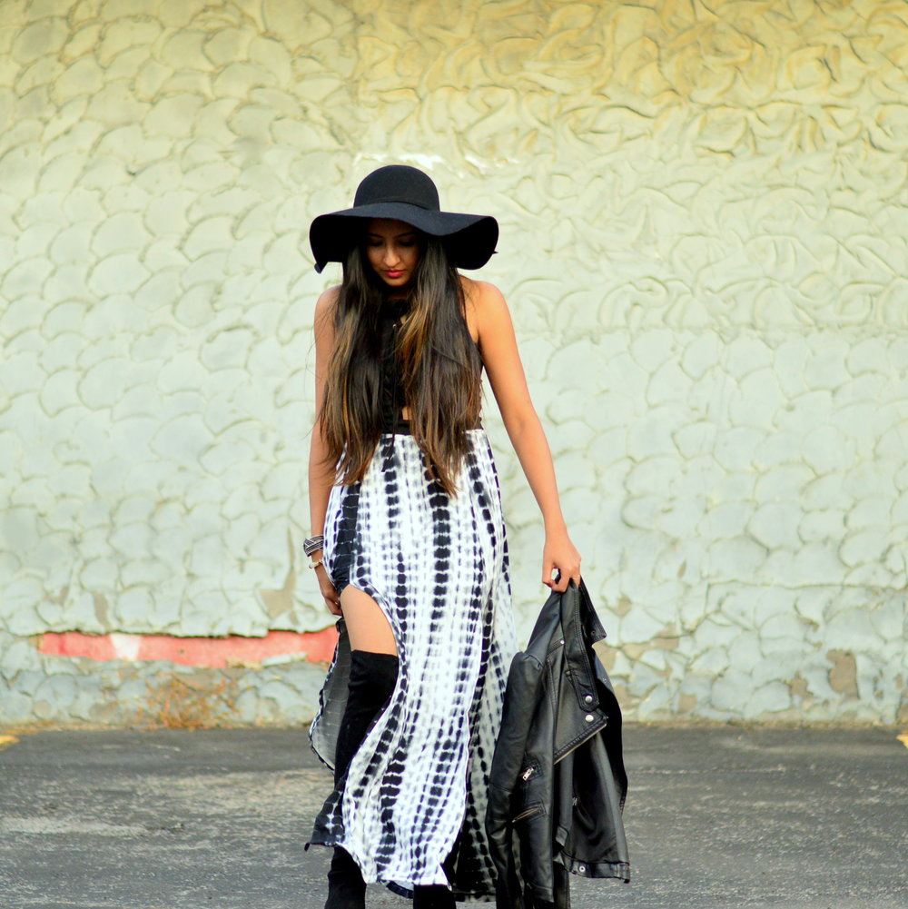 tie-dye-maxi-skirt-leather-jacket-boho-chic-over-the-knee-boots-winter-style 4