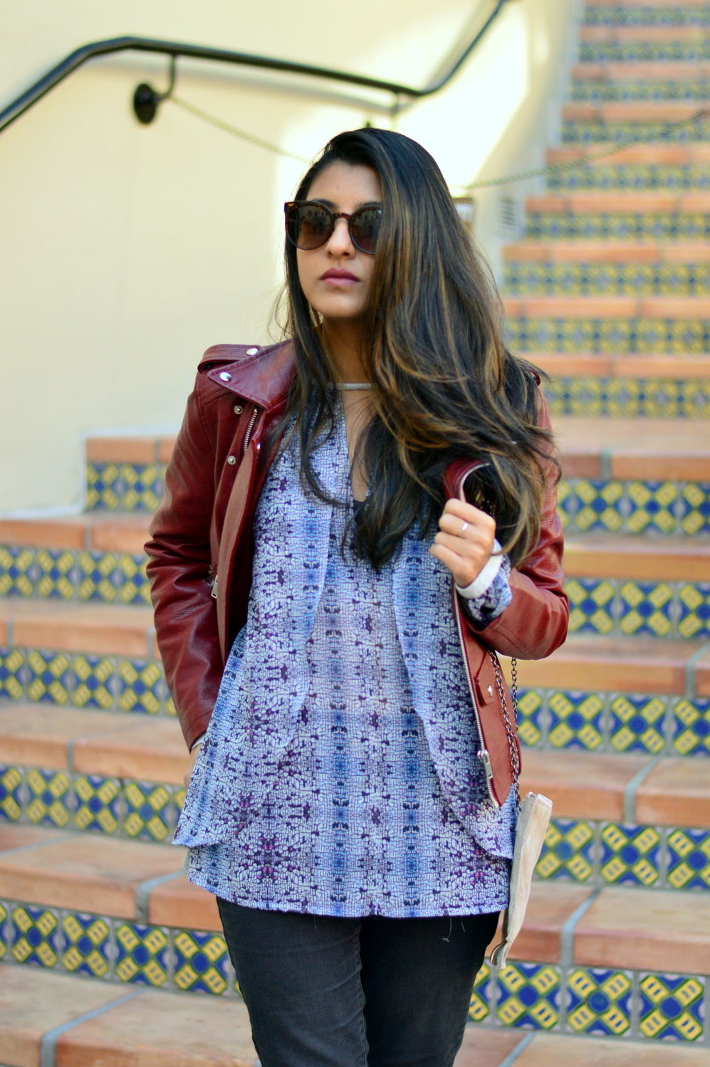 burgundy-leather-jacket-laceup-ankle-boots-casual-layers-winter-style-animal-print 2