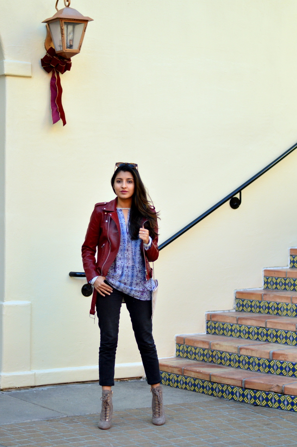 burgundy-leather-jacket-laceup-ankle-boots-casual-layers-winter-style-blogger-outfit 3