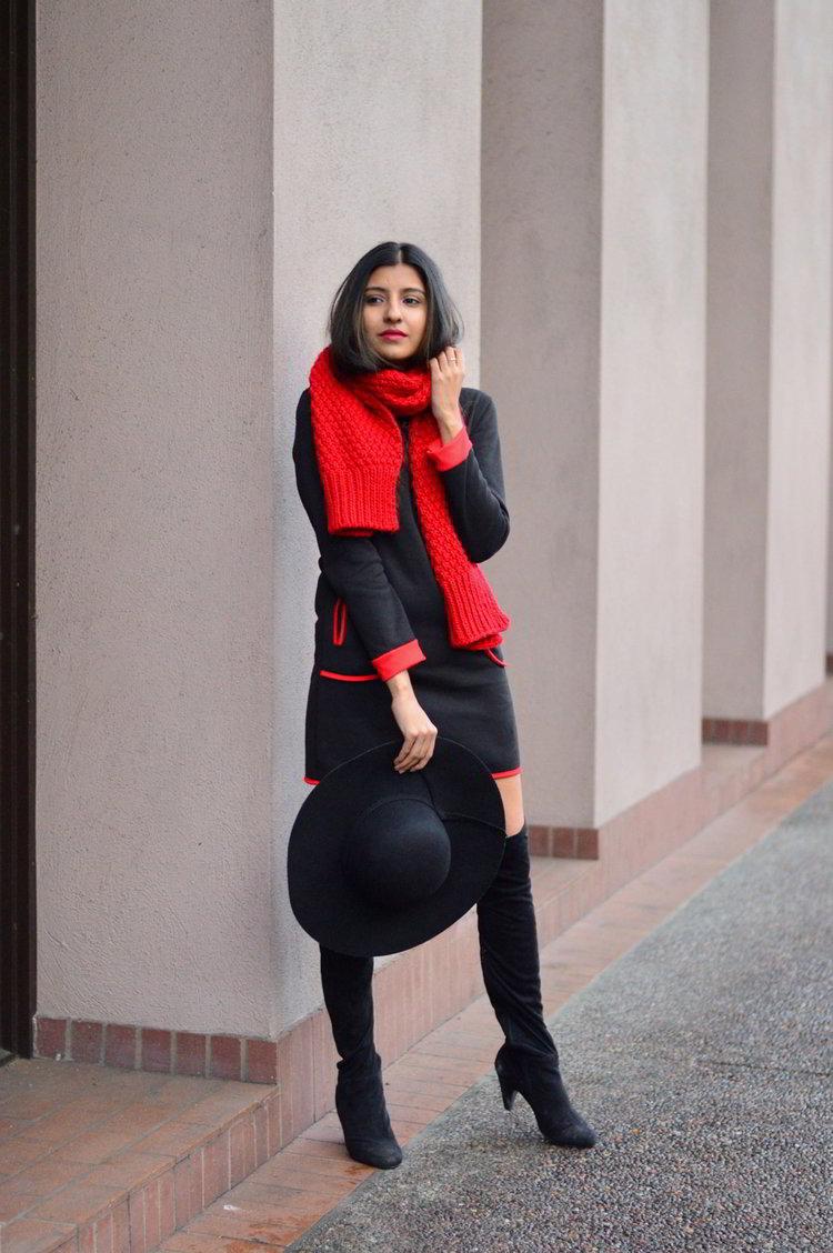 521e829f985 sweater-dress-mod-red-blanket-scarf-winter-style-