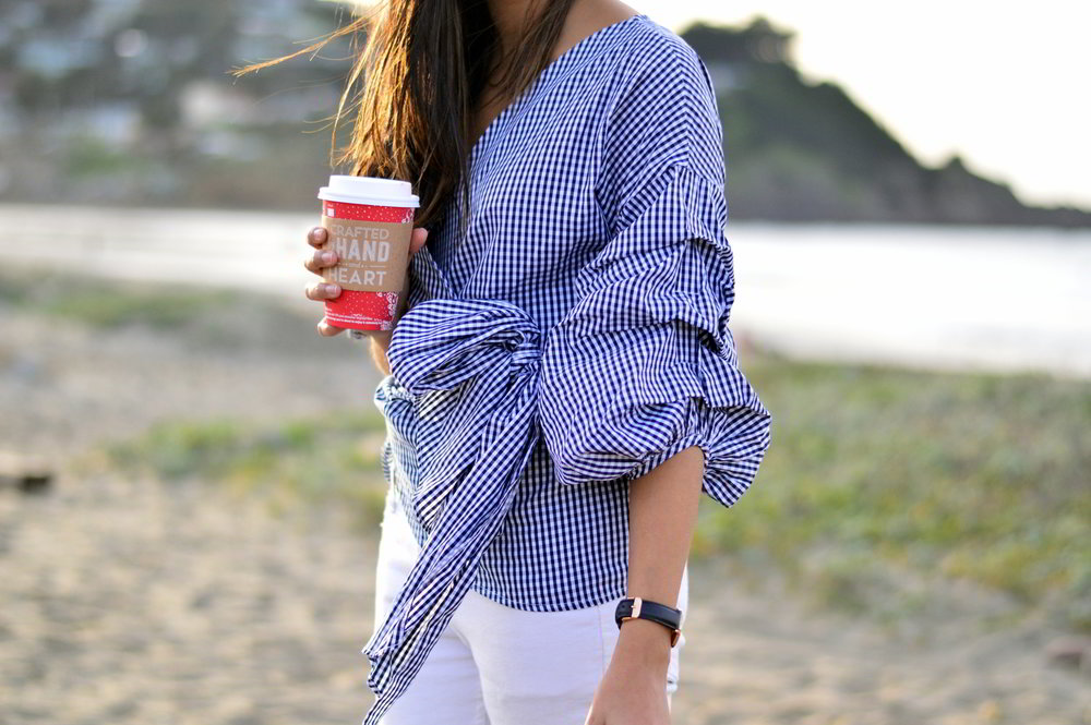 gingham-plaid-wrap-blouse-white-denim-over-the-knee-boots-winter-style-blogger-outfit 4