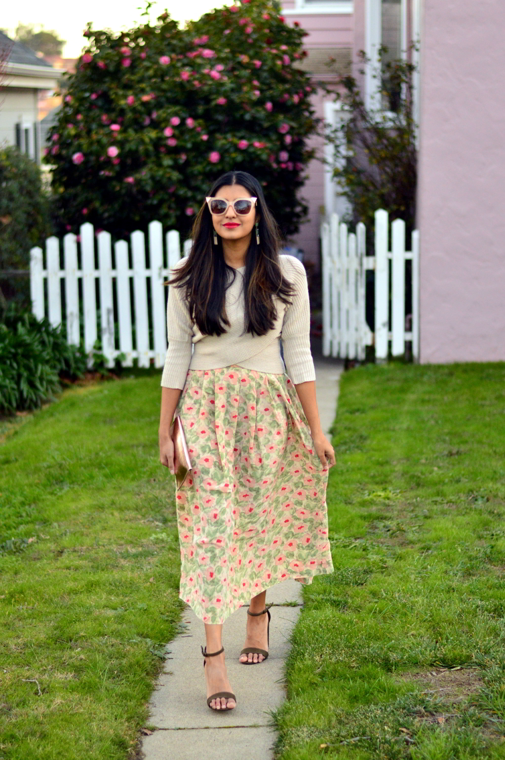 wrap-sweater-cropped-floral-midi-skirt-spring-style-blogger-outfit-cateye-sunglasses 3