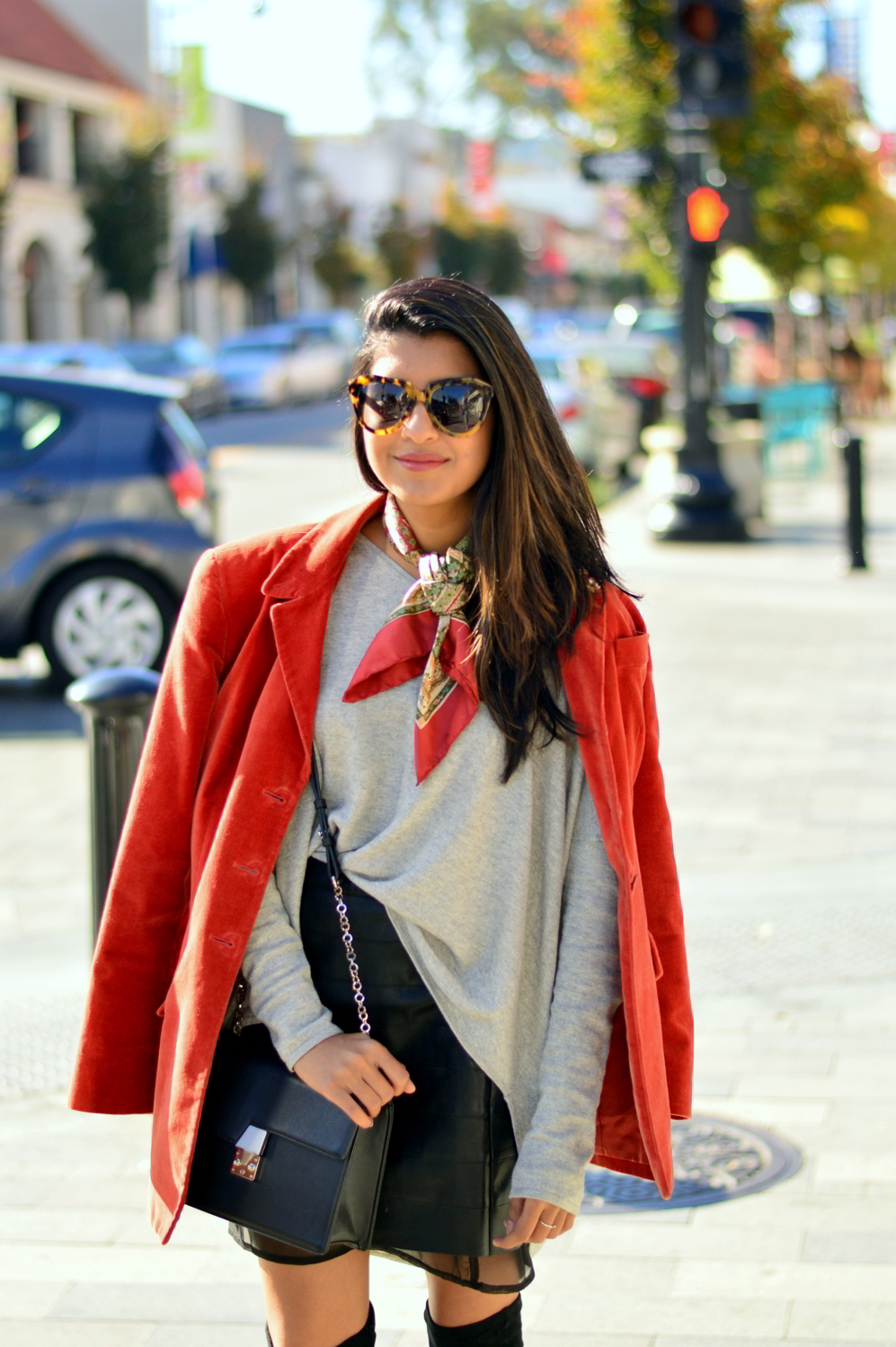 transitional-spring-style-textures-suede-leather-skirt-knits-blogger-layers-outfit 2