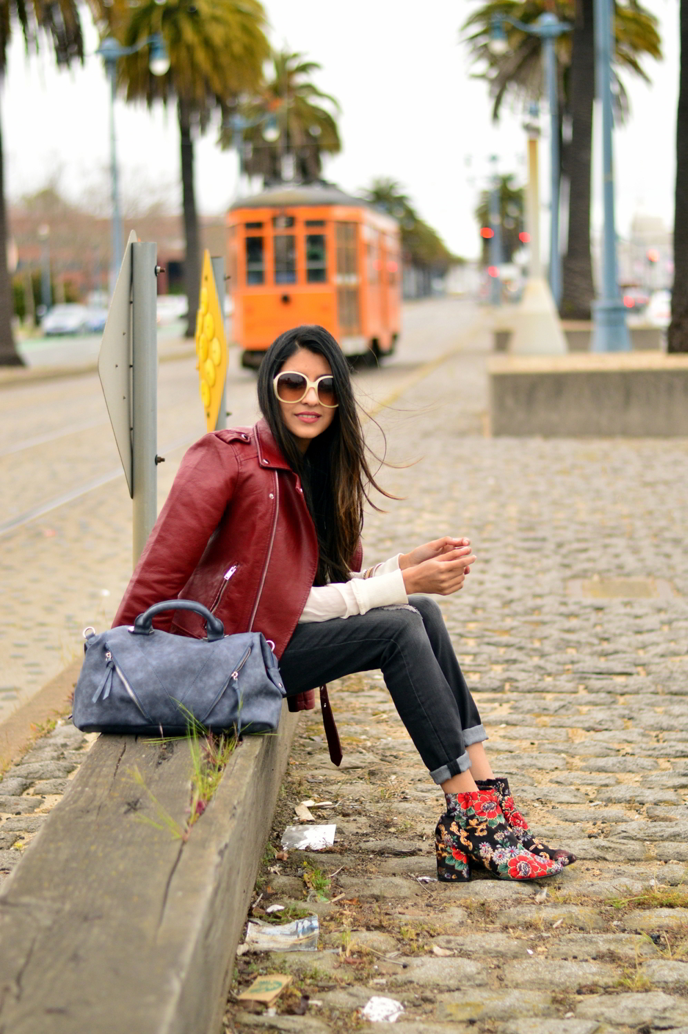spring-layers-basics-san-francisco-floral-velvet-boots-blogger-outfit 2