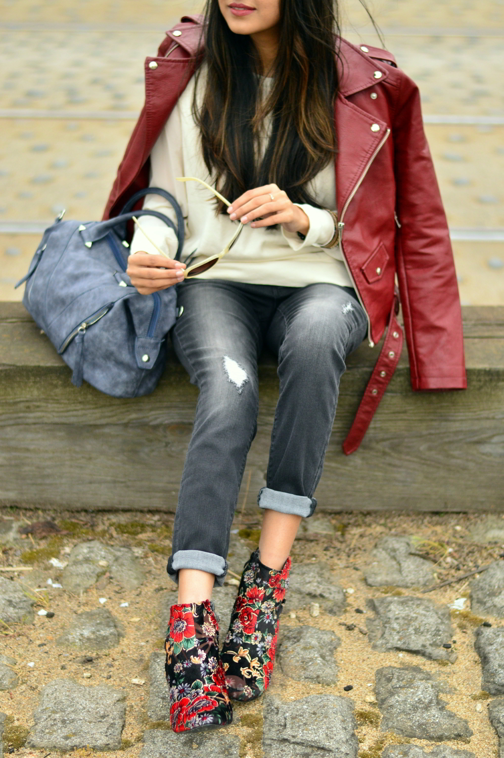 spring-layers-basics-san-francisco-floral-velvet-boots-blogger-outfit 4