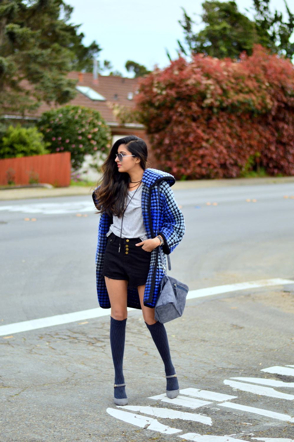 ombre-polka-dots-blue-statement-coat-spring-layers-outfit-blogger-style 3