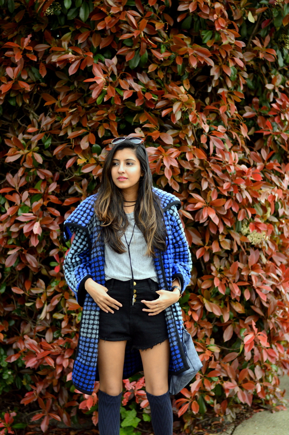 ombre-polka-dots-blue-statement-coat-spring-layers-outfit-blogger 5