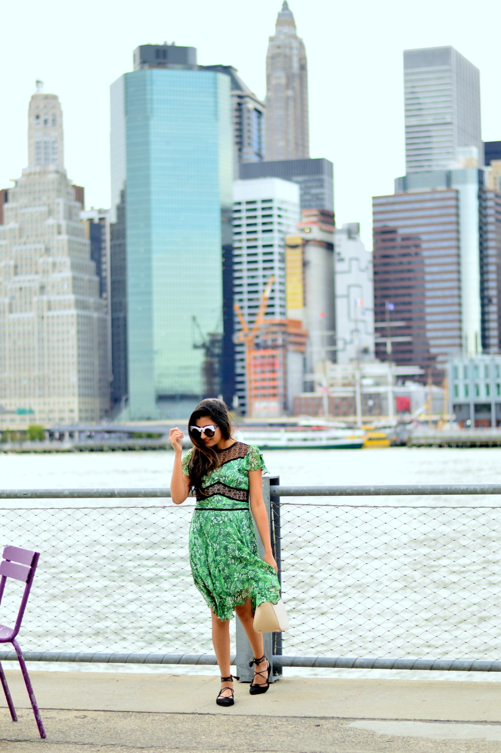 green-summer-dress-lace-style-blogger-outfit-new-york-city 1