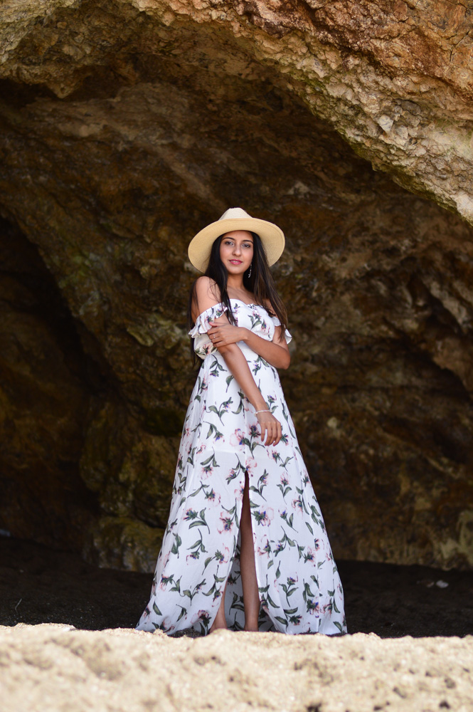 floral-maxi-off-the-shoulder-dress-summer-style-blogger-outfit-beach-day 3