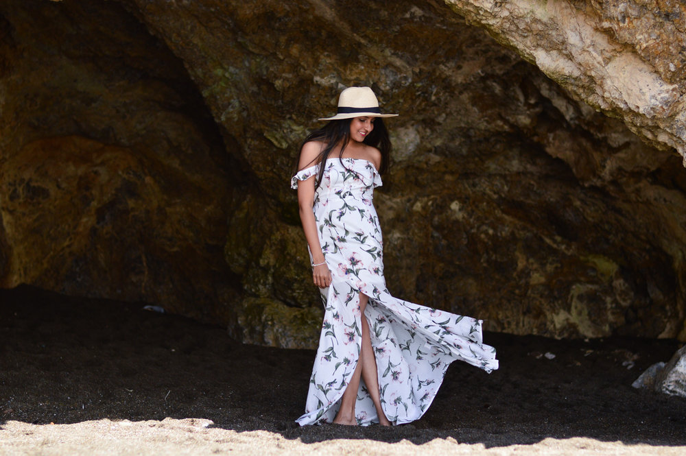 floral-maxi-off-the-shoulder-dress-summer-style-blogger-outfit-beach-day 6