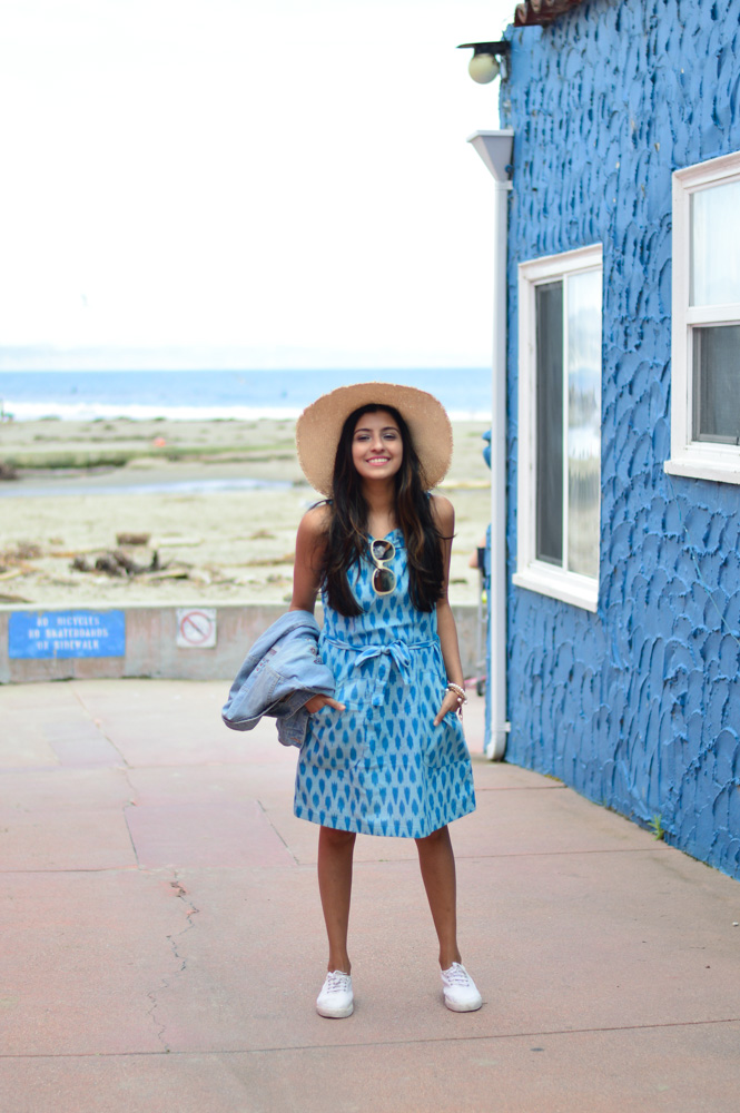 ikat-dress-blue-summer-style-capitola-california-travel-blogger 6