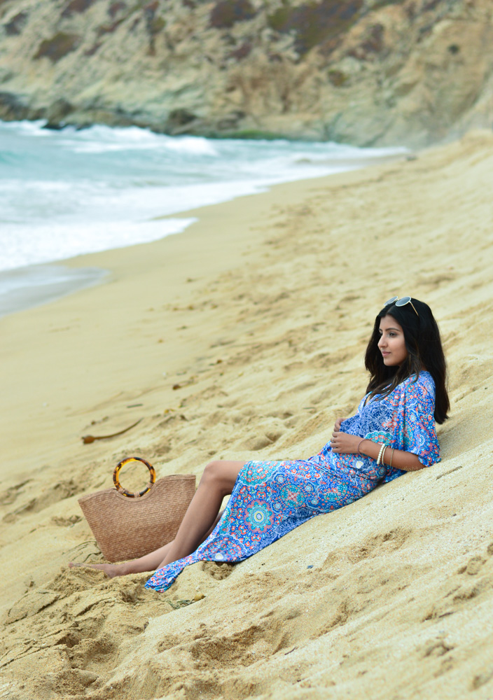 printed-kaftan-dress-beach-resort-vacation-style-california-travel 8