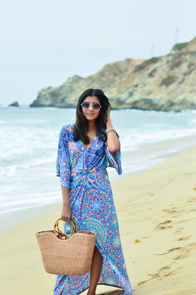 printed-kaftan-dress-beach-wicker-bag-style-california-blogger 9