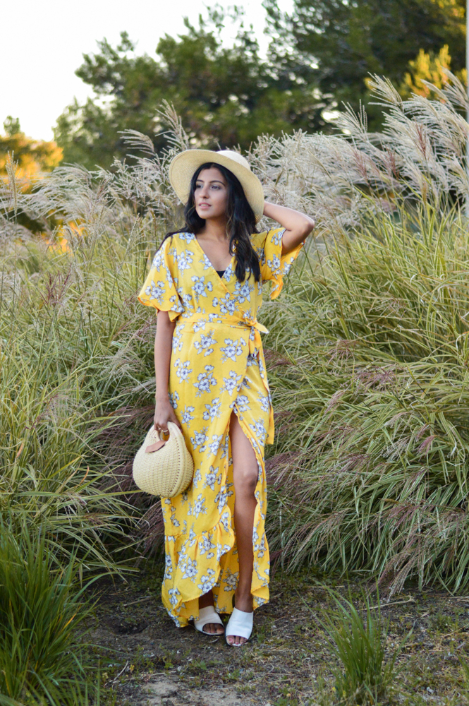 yellow-floral-maxi-dress-summer-style-blogger-outfit 5