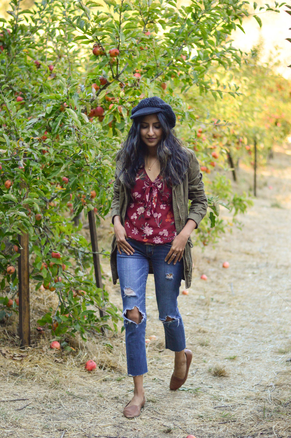 apple-picking-fall-florals-utility-jacket-california-style-fall-activities 8