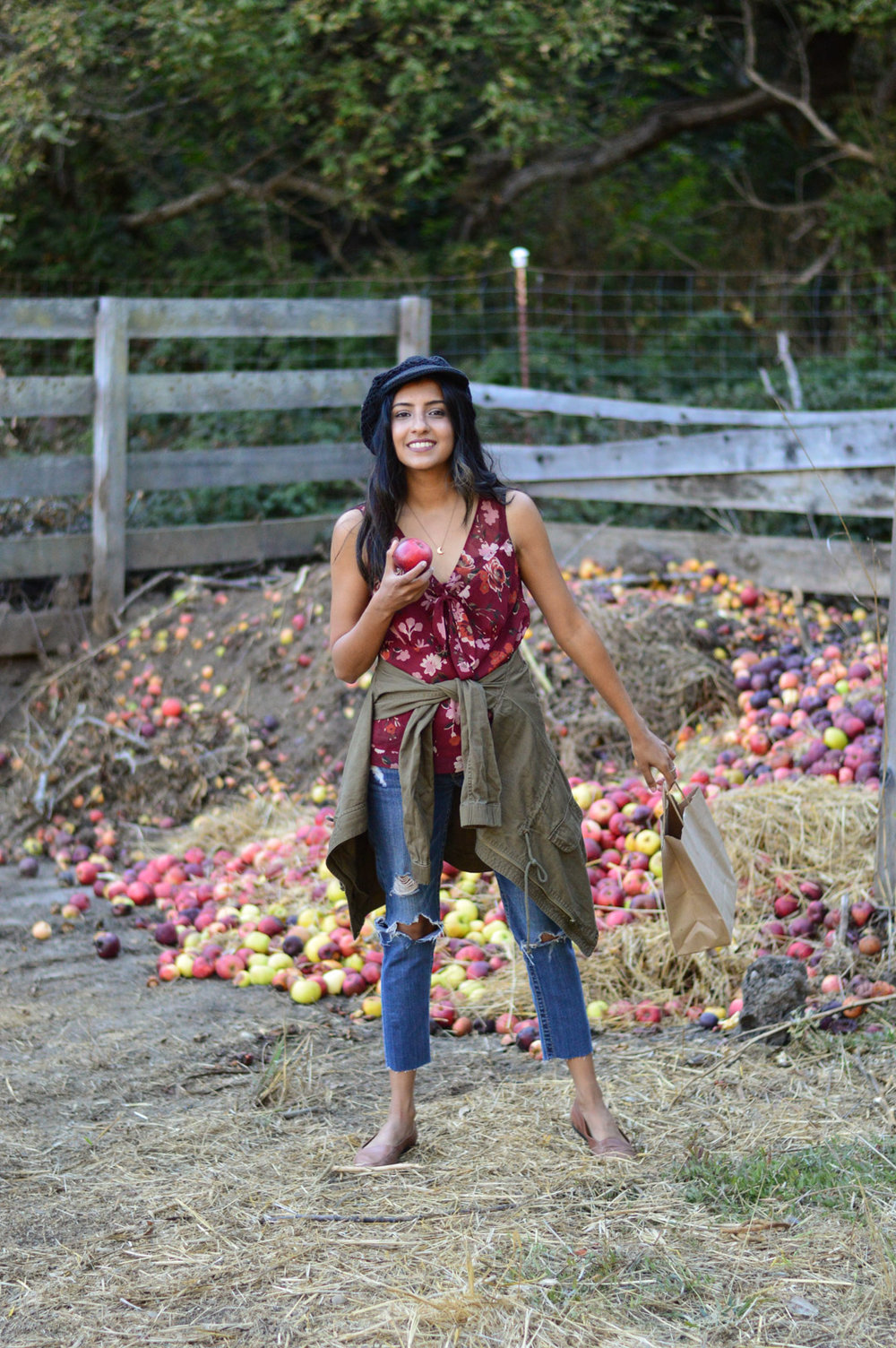 apple-picking-fall-florals-utility-jacket-california-style 12