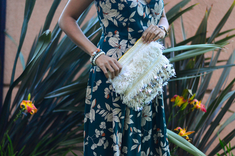 floral-jumpsuit-fall-florals-statement-clutch-moroccan-outfit 5