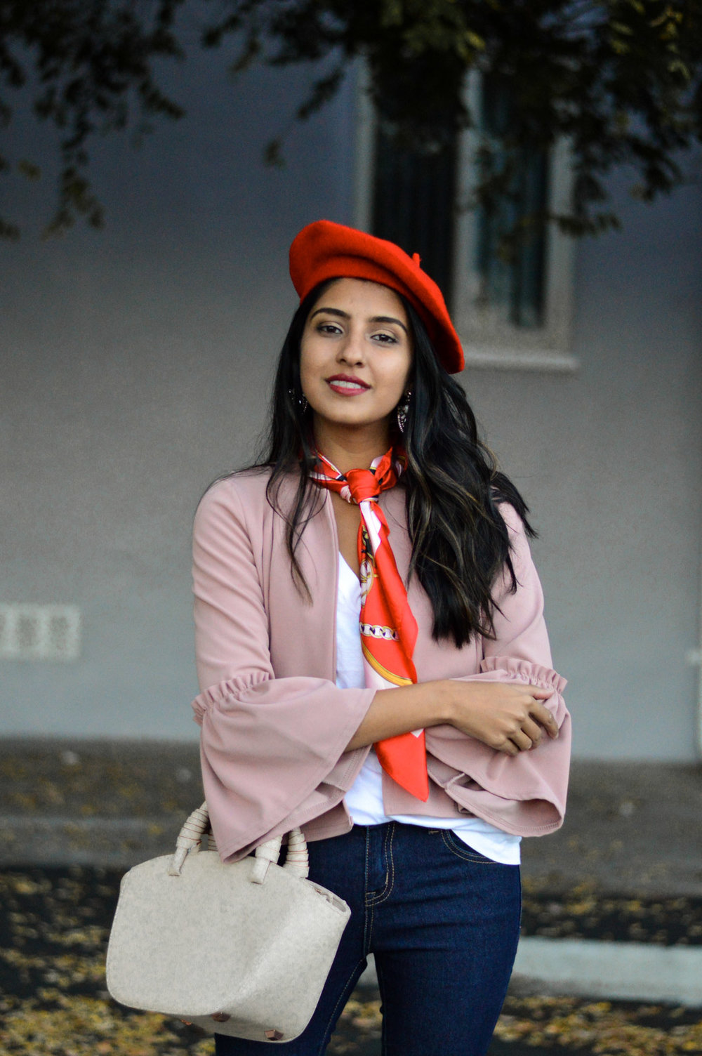 french-girl-essentials-beret-ruffles-outfit-blogger 7
