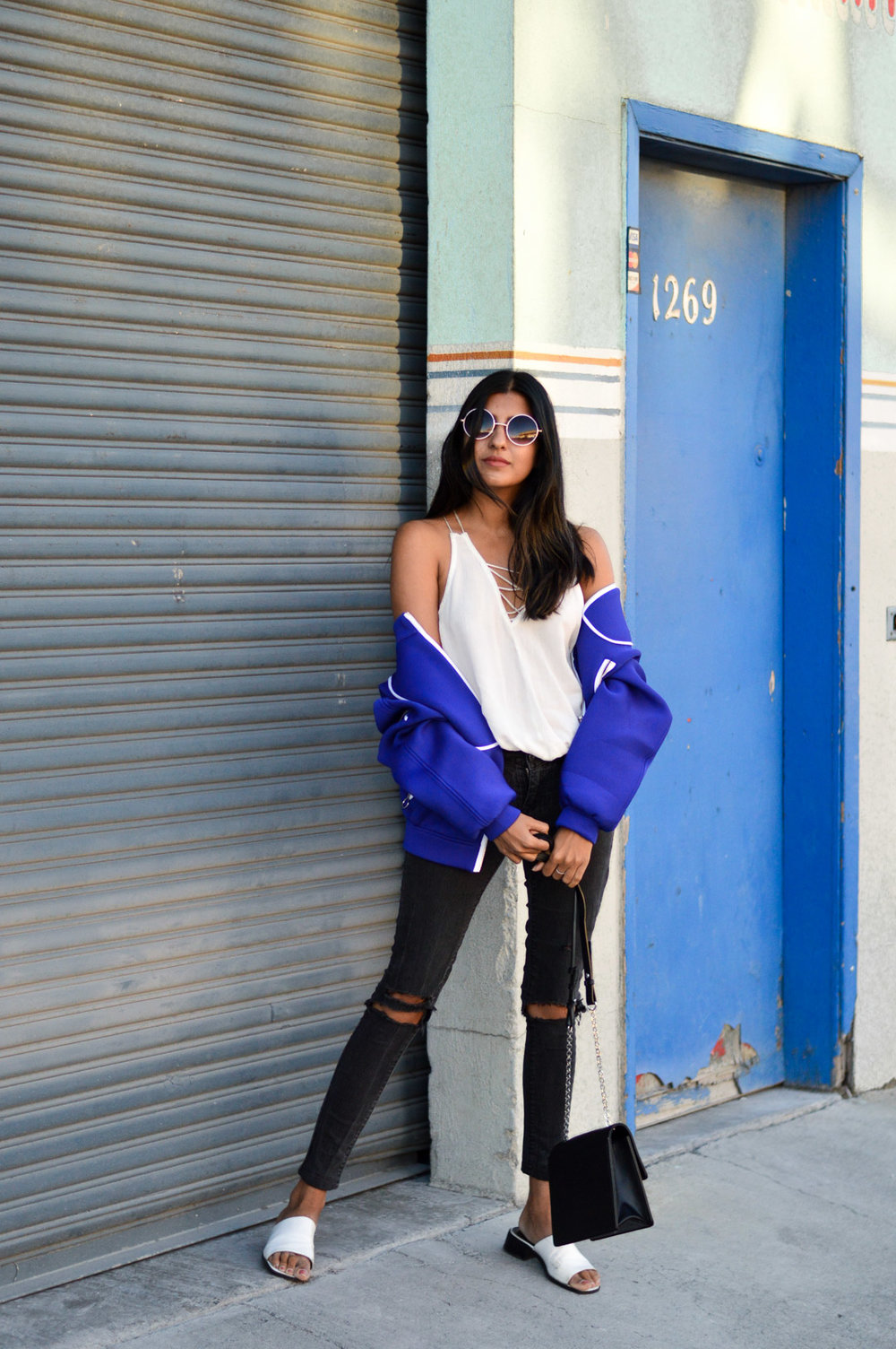 blue-bomber-jacket-winter-layers-blogger 1