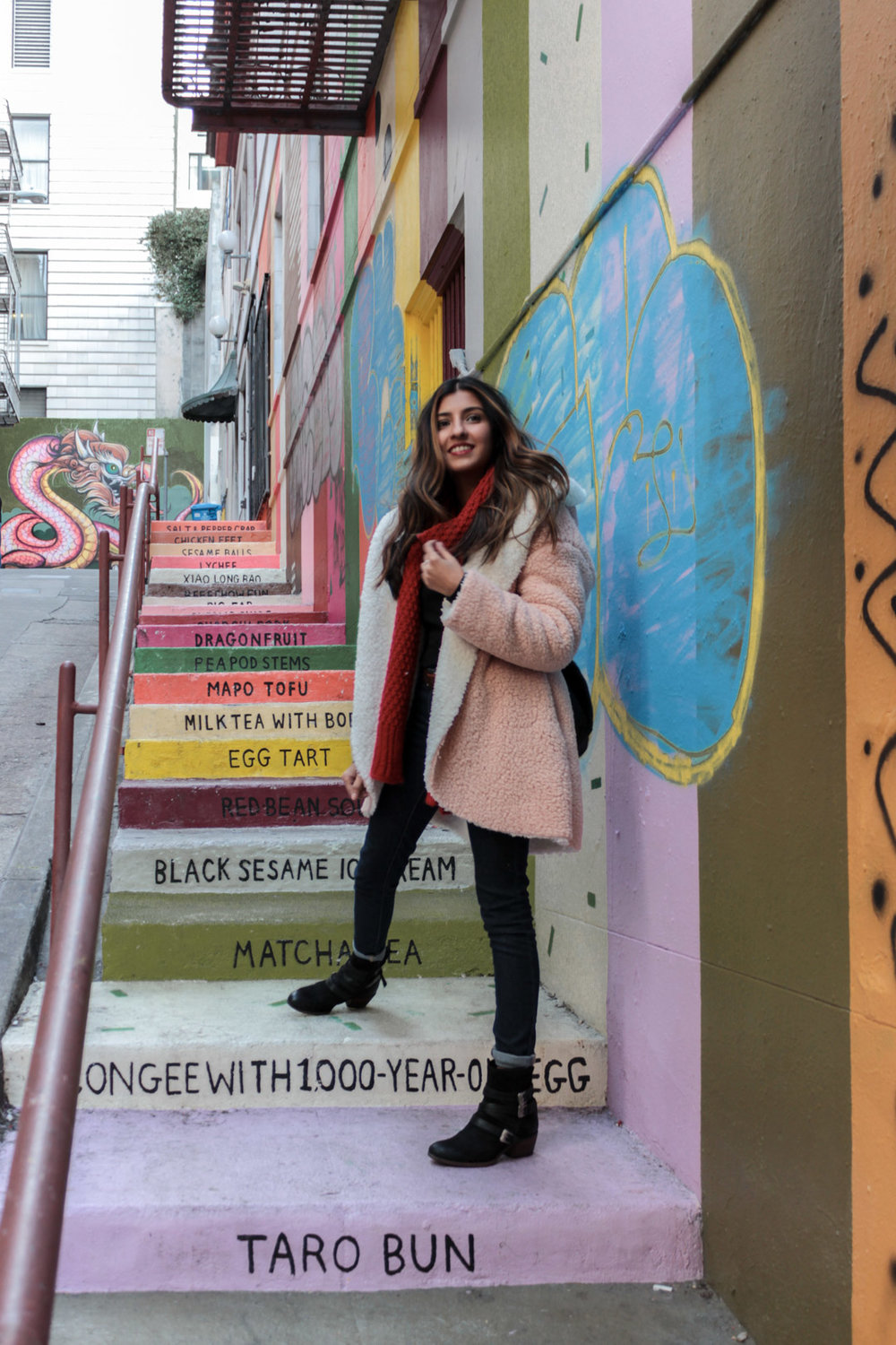 teddy-coat-chinatown-san-francisco-blogger-outfit 3