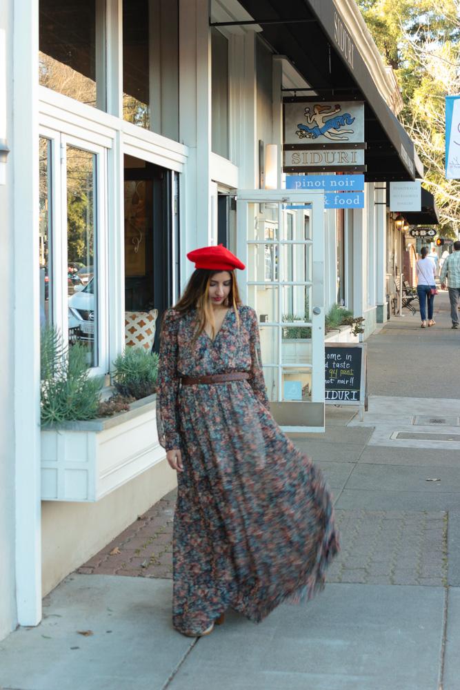 healdsburg-sonoma-california-beret-maxi-dress-travel-blogger 12