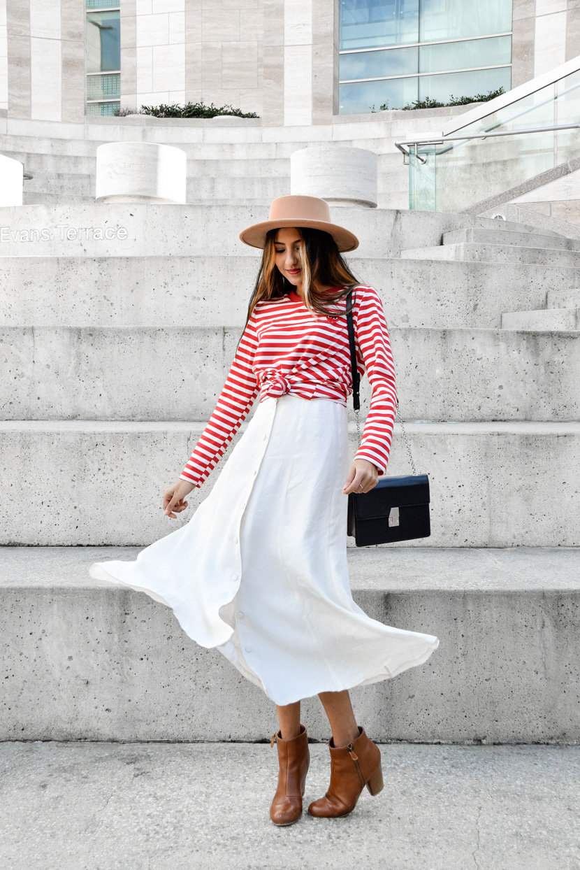 striper-red-lip-midi-skirt-spring-style-essentials 5