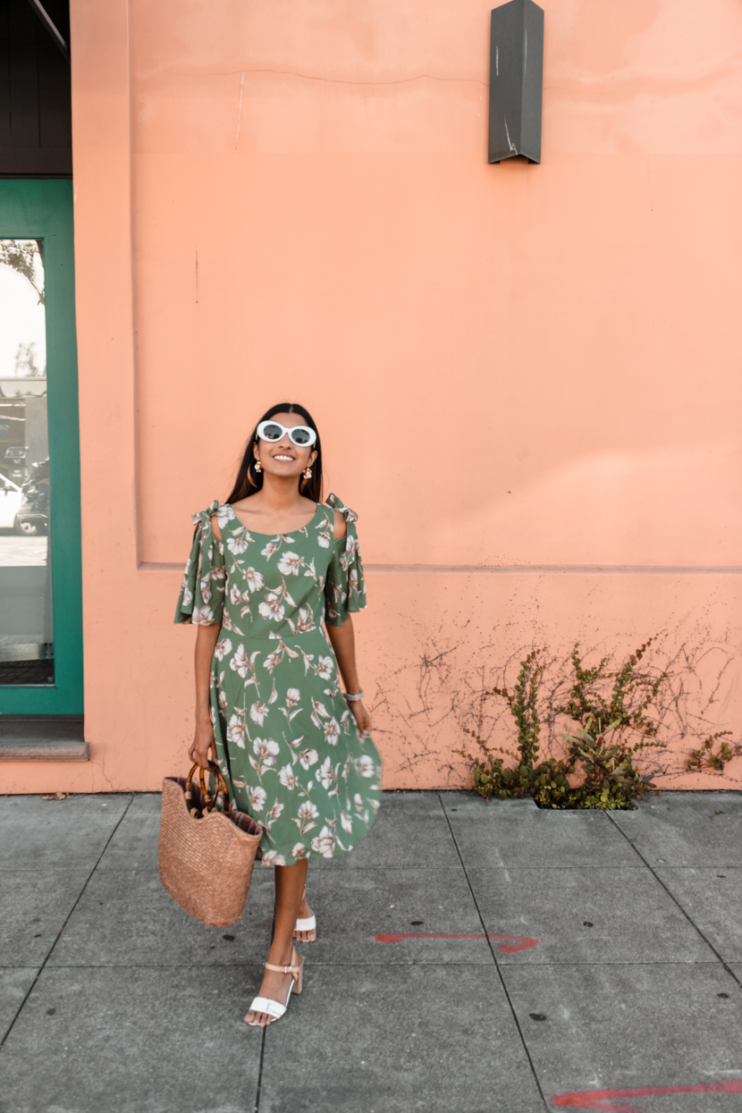 fashion-floral-dress-midi-blogger-outfit 3