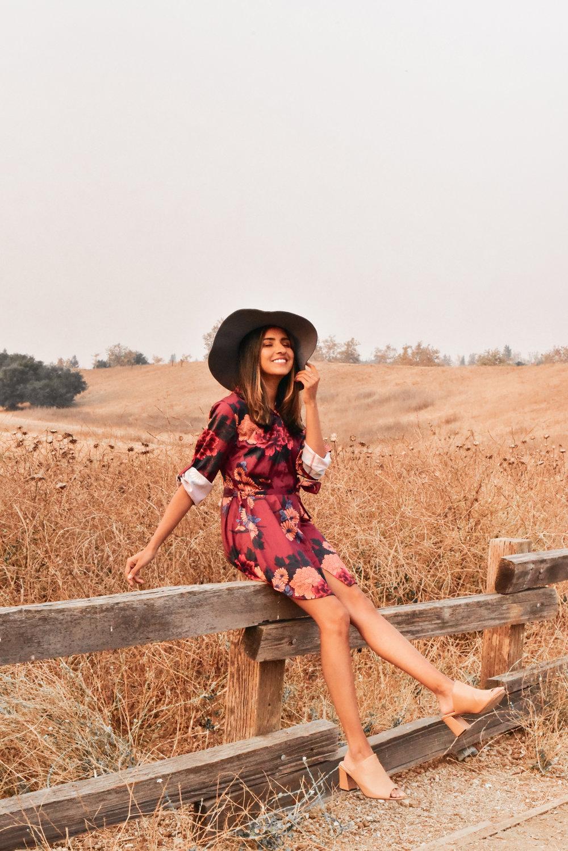silk-shirtdress-fall-florals-outfit 1