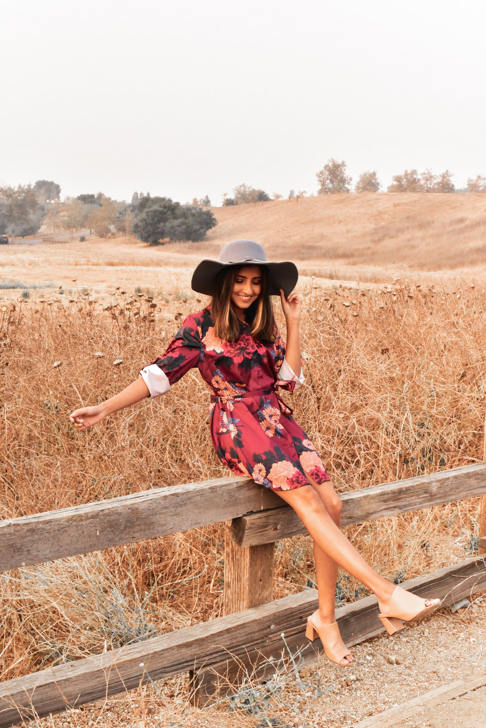Dress: c/o  Femme luxe , Hat: Old (Similar  here ), shoes: J adams c/o  zooshoo
