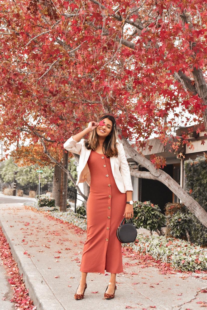 dress: c/o  femme luxe , blazer: old via H&M (similar  here ), bag: c/o  forever 21 , shoes: old (similar  here )