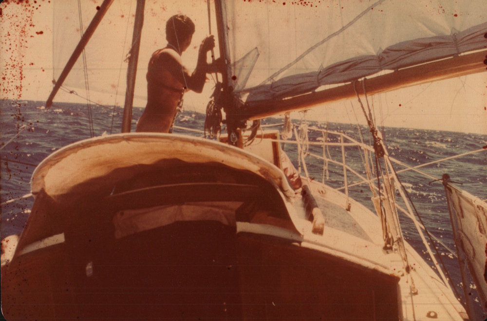 - Peter at sea, sailing south, single-handed