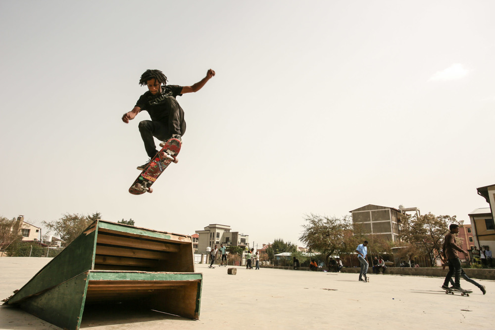 Skateboarding in Ethiopia