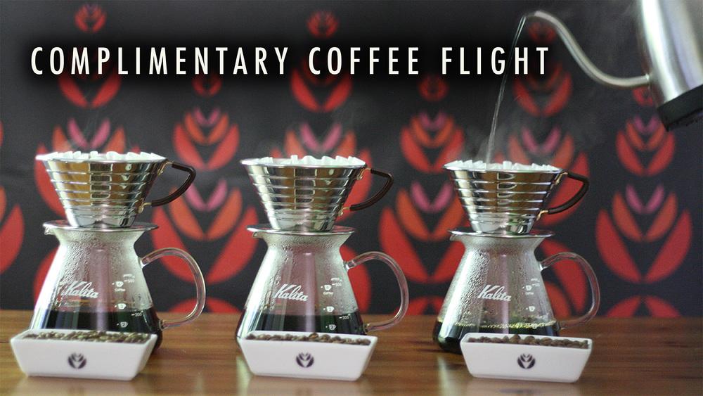 Complimentary Coffee Flight