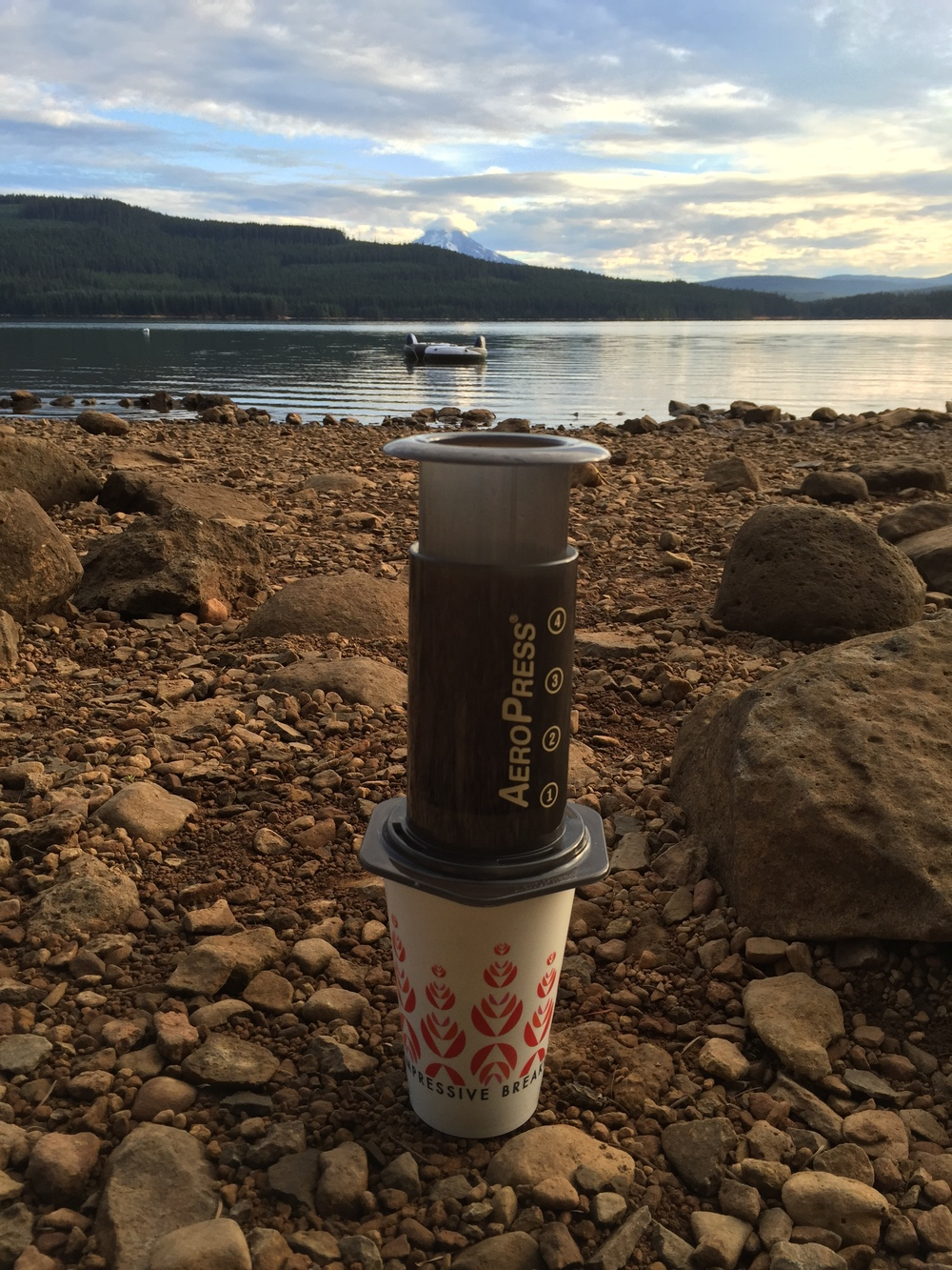 office coffee camping aeropress