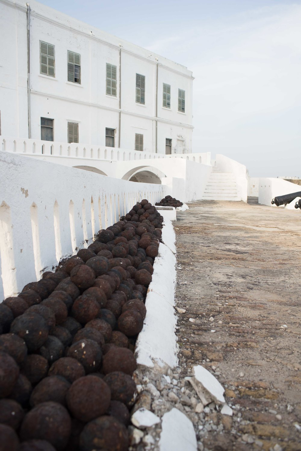 Cannon balls at Cape Coast. This fort changed hands any times