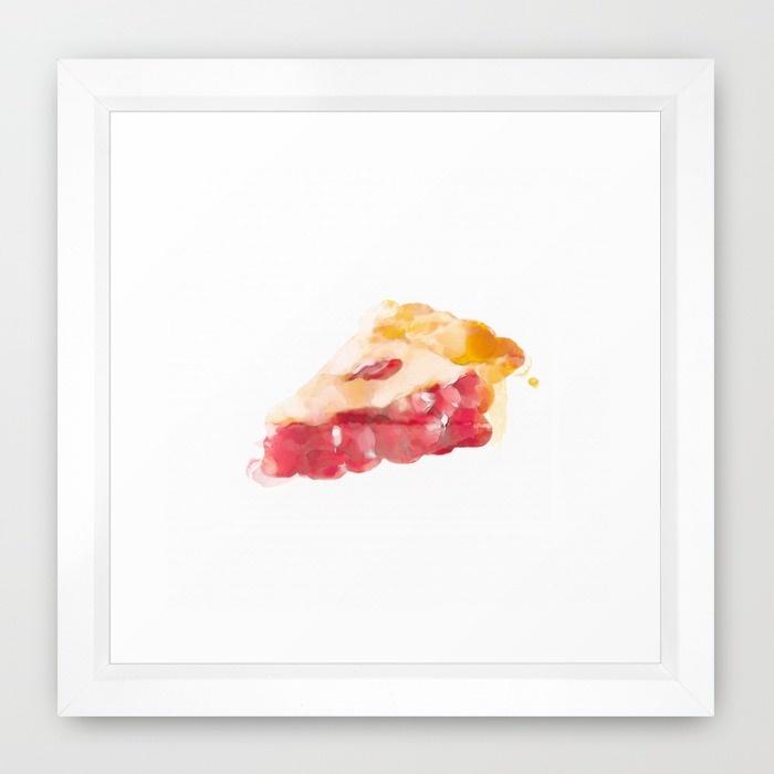 CHERRY PIE Framed Print on Society6.com