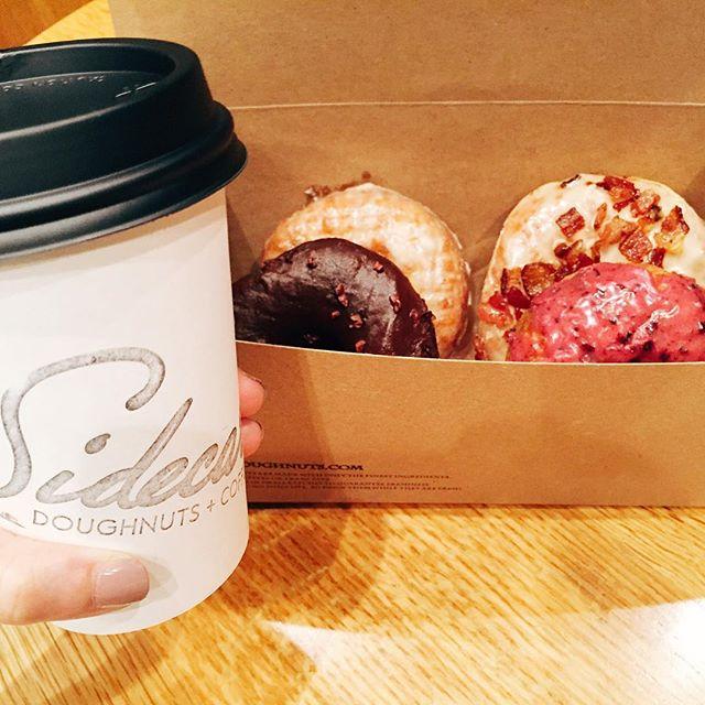 Donuts and hot cocoa 🍩☕️ Don't judge me #sidecar #doughnuts #santamonica