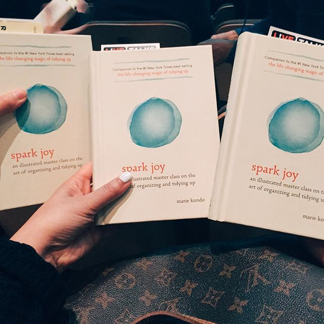 Can't wait to hear Marie Kondo speak tonight! #konmari #mariekondo #sparkjoy #santamonica