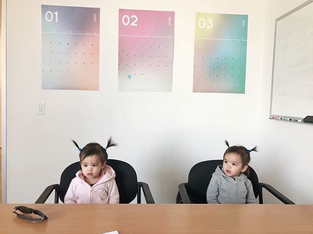 these two in the office today! 👧🏻👧🏻