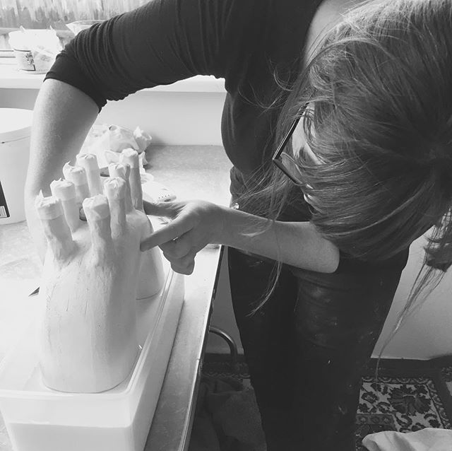 Back in the studio! Balancing baby, design and ceramics can be a challenge but it's sooooo good to be getting my hands dirty again! There are a few new styles in the making to so stay tuned!  #alephceramics #ceramics #pottery #handmade