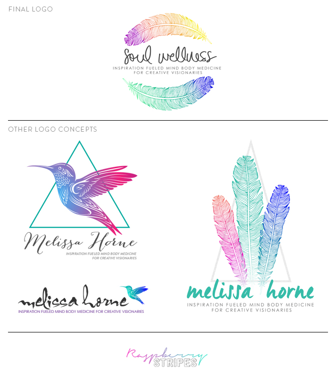 Soul Wellness Logo design by Raspberry Stripes